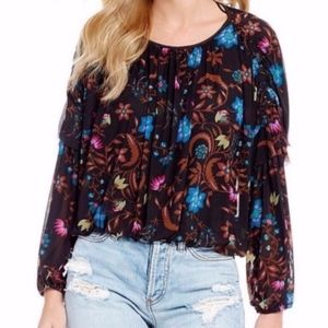 Free People Wildflower Honey Floral Top